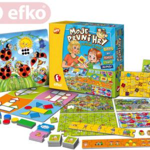EFKO Moje první hry soubor her pro nejmenší děti SPOLEČENSKÉ HRY