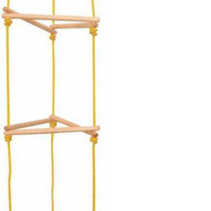 WOODY DŘEVO Žebřík dětský závěsný provazový 185cm věž