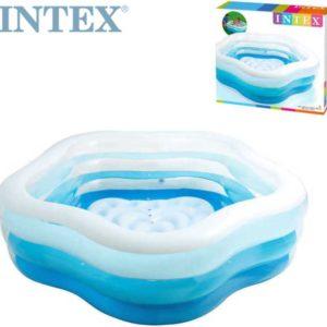INTEX Bazén v odstínech modré 185 x 180 cm