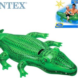INTEX Aligátor nafukovací 168 x 86cm s držadlem do vody