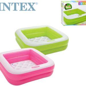 INTEX Bazén dětský nafukovací ČTVEREC 85 x 85cm 2 barvy