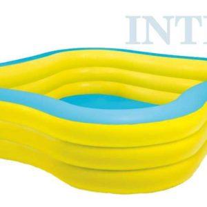 INTEX Bazén nafukovací rodinný 229x229cm s okénky na vodu 57495