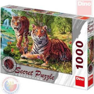 DINO Puzzle Tygři 66x47cm secret collection set 1000 dílků v krabici