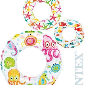 INTEX Kruh plavací dětský 61cm nafukovací kolo mořský svět do vody 3 druhy