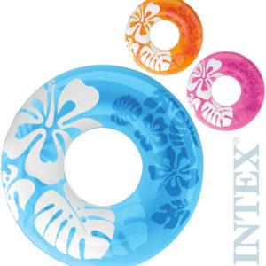 INTEX Kruh plavací nafukovací 91 cm 3 barvy do vody