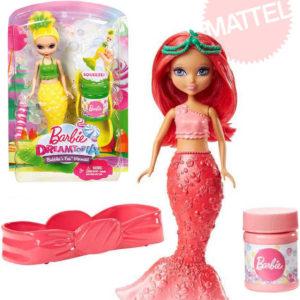 MATTEL BRB Barbie Dreamtopia víla bublinková malá panenka bublifuk 3 druhy
