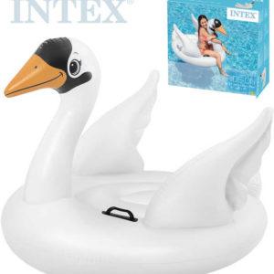 INTEX Labuť malá nafukovací s úchyty 130x102x99cm dětské vozítko do vody 57557