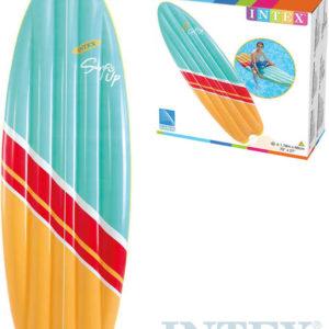 INTEX Surf nafukovací dětské lehátko 178x69cm na vodu plast 58152
