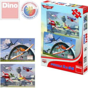 DINO Puzzle Planes (Letadla) Dusty 2x66 dílků