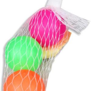 Míčky 4cm na beachball set 3 ks balonky barevné plastové v síťce