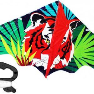 Drak létající potisk tygr 120x61cm plast