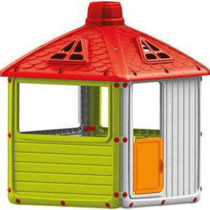 DOLU Domeček zahradní hrací velký City pro děti 104x132x104cm plastový