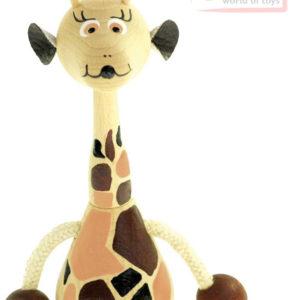 BINO DŘEVO Žirafa na pružině 12cm pružiňák *DŘEVĚNÉ HRAČKY*