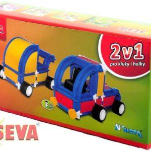 VISTA SEVA 2v1 Kočárek Tahač polytechnická STAVEBNICE 167 dílků