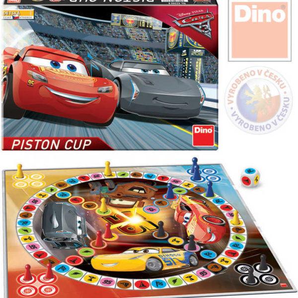DINO Hra Člověče nezlob se Cars 3 Piston Cup Race (Auta) *SPOLEČENSKÉ HRY*