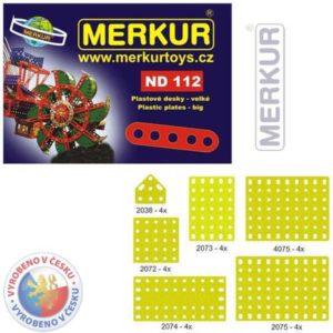 MERKUR ND112 Desky velké plastové set 24ks KOVOVÁ STAVEBNICE