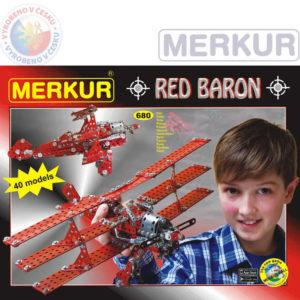 MERKUR Red Baron 40 modelů 680 dílků KOVOVÁ STAVEBNICE