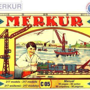 MERKUR Classic C05 217 modelů 339 dílků retro KOVOVÁ STAVEBNICE