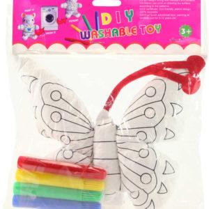 Vymaluj si svého motýlka kreativní set malovací motýl + 4 fixy v sáčku