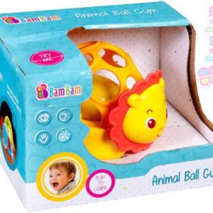 ET BAM BAM Baby Koule zábavná na baterie Lev pro miminko Světlo Zvuk