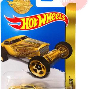 MATTEL Hot Wheels zlaté autíčko 8cm angličák 1:64 Hi-Roller na kartě kov