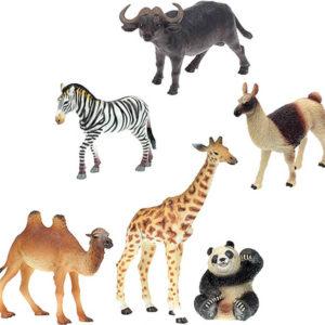Zvířátka exotická safari Zoolandia střední velikost 6 druhů plast