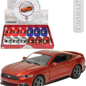 KINSMART Auto model 1:38 FORD Mustang GT 2015 kov PB 13cm 4 barvy