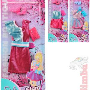 SIMBA Steffi Love šaty Glam Party pro panenku 3 druhy set s doplňky na kartě