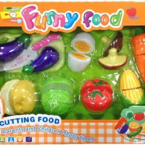 Kuchyňská krájecí zelenina potraviny na suchý zip set s nožíkem a doplňky plast