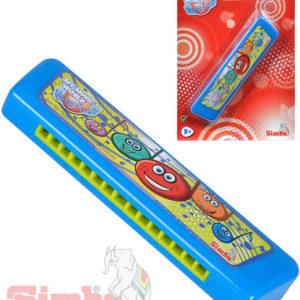 SIMBA Harmonika dětská foukací 15cm modrá na kartě HUDEBNÍ NÁSTROJE