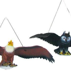 Figurka na zavěšení ptáci orel / sova 38cm na gumce plast