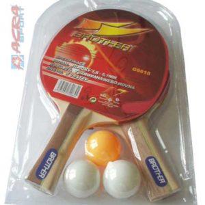 ACRA Sada Brother 2 pálky s míčky