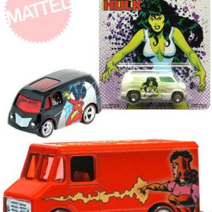 MATTEL HOT WHEELS Marvel Auto angličák 1:64 Pop Culture 5 druhů kov na kartě