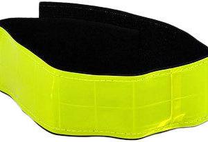 Páska reflexní bezpečnostní na suchý zip 40cm žlutá neon