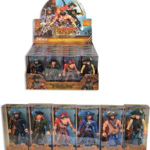 Figurka pirát 8cm plastová postavička v krabičce 6 druhů