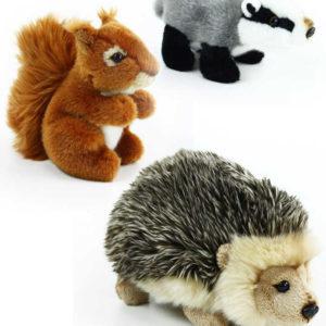 PLYŠ Zvířátko lesní 16cm ježek / veverka / jezevec 3 druhy *PLYŠOVÉ HRAČKY*