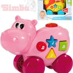 SIMBA Baby zvířátko 14cm na kolečkách 40 melodií na baterie pro miminko Zvuk 2 druhy