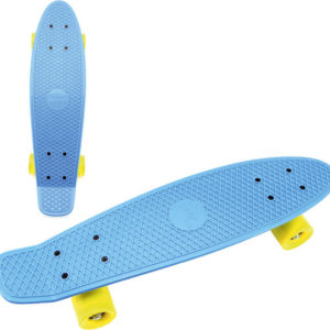 Skateboard dětský pennyboard modrý 60cm kovové osy žlutá kola