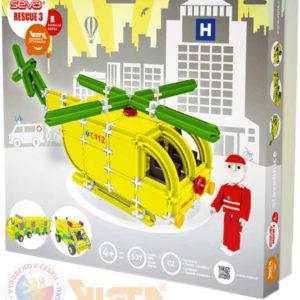 VISTA SEVA Rescue 3 záchranáři polytechnická STAVEBNICE 537 dílků v krabici