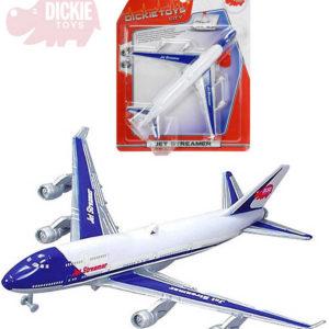 DICKIE Letadlo Jet Streamer 25cm k zavěšení na baterie létá dokola