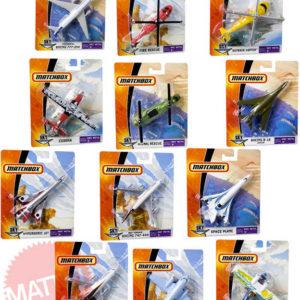 MATTEL Match Box Sky Busters model letadlo / helikoptéra různé druhy kov na kartě