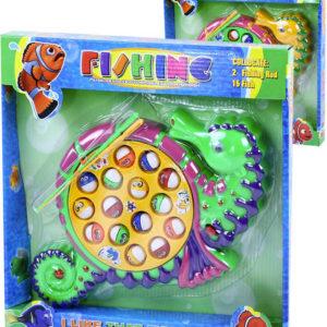 Hra na rybaření mořský koník dětský rybolov na baterie s melodií 2 barvy plast Zvuk