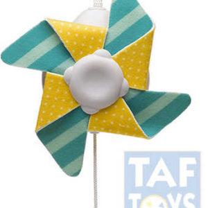 TAF TOYS Baby větrník kousátko na kočárek s klipem pro miminko