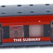 Vlak 17cm moderní vlaková souprava kovová metro v krabičce