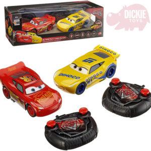 DICKIE RC Set 2 autíčka Auta 3 (Cars) 17cm 1:24 na dálkové ovládání 2,4GHz turbo plast