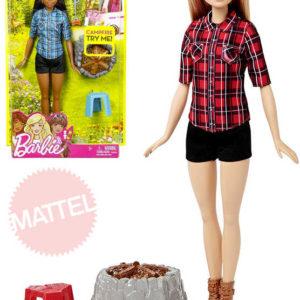 MATTEL BRB Panenka Barbie 32cm u táboráku set s doplňky Světlo Zvuk 2 druhy