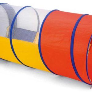 Tunel barevný prolézací 112cm látkový dětský stan v obalu se zipem
