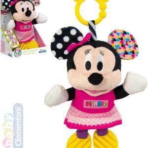 CLEMENTONI PLYŠ Baby Minnie Mouse myška kousátko Zvuk *PLYŠOVÉ HRAČKY*