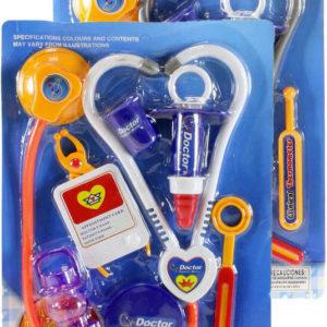 Souprava doktorská dětské lékařské potřeby set 8ks na kartě 3 druhy plast