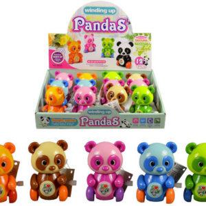 Panda kungfu 8cm natahovací na klíček plast 5 barev